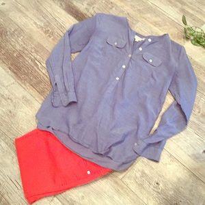 🌼LOFT🌼 lightweight denim shirt XS